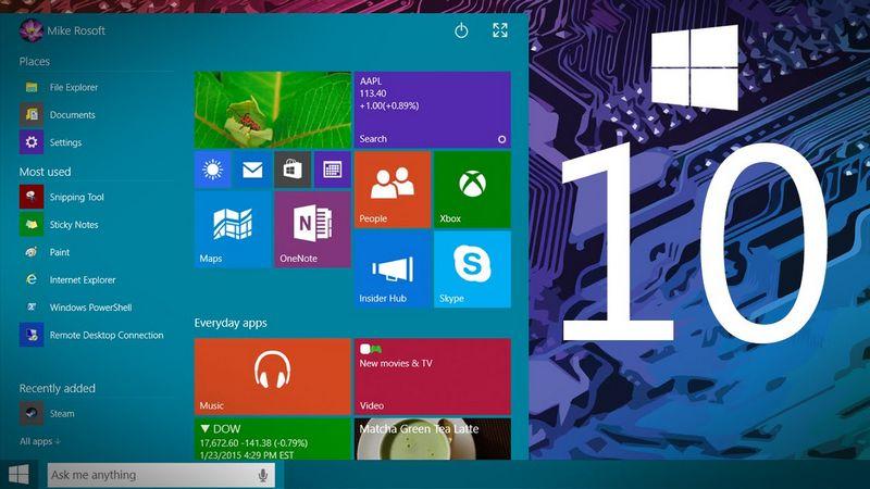 Windows 10 nouveautes