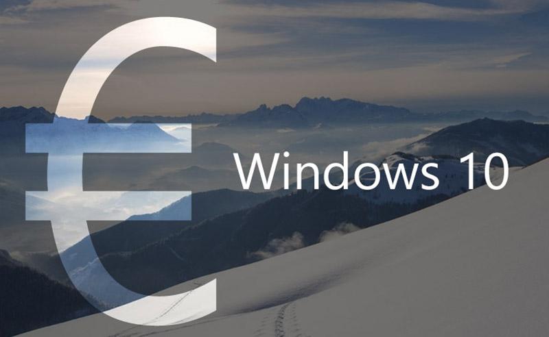 windows 10 plus cher france europe