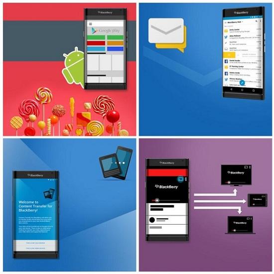 BlackBerry Venice fuite Android promo