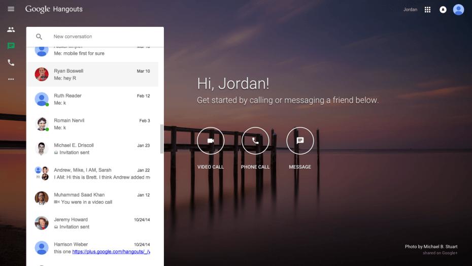 Google Hangouts Web