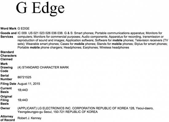 LG depôt marque Edge G Samsung