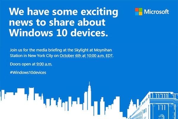 Microsoft conference 6 octobre