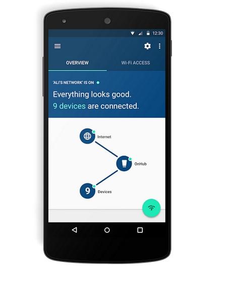OnHub Google routeur application