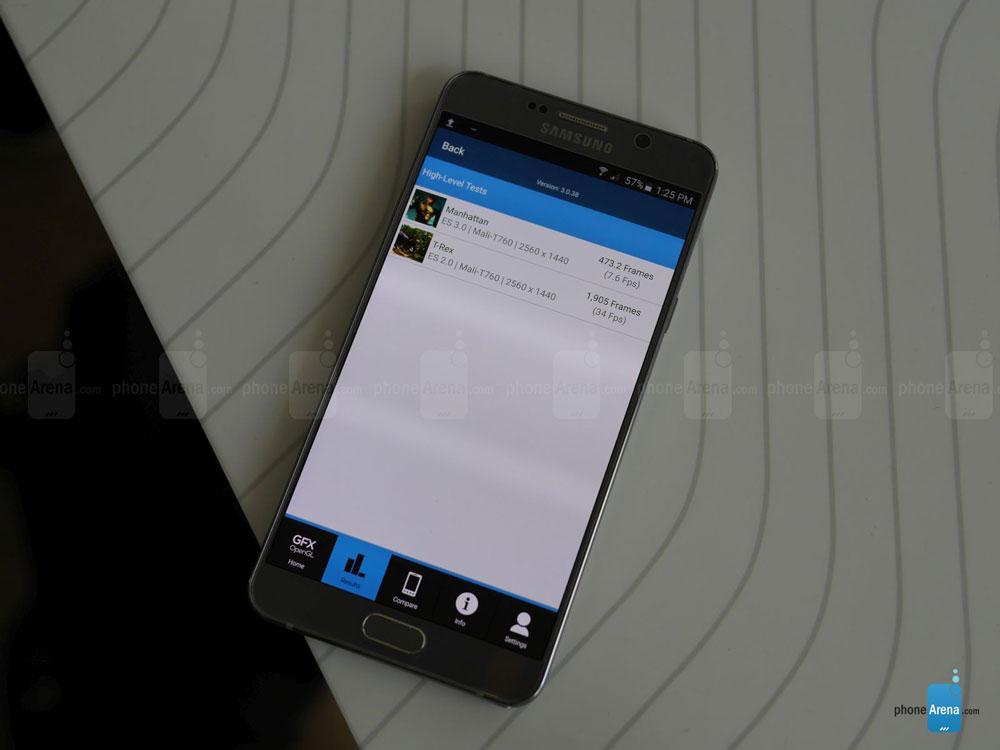 Samsung Galaxy Note 5 benchmark gfx