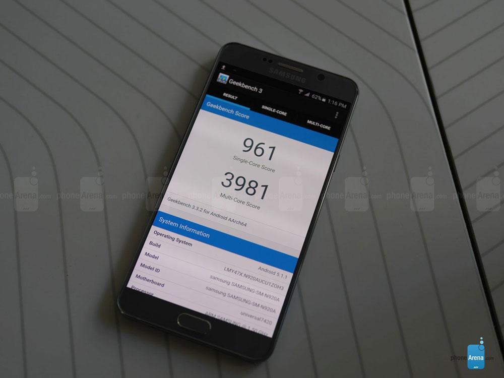 Samsung Galaxy Note 5 geekbench