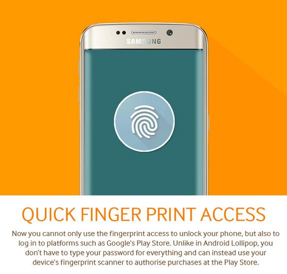 Android M lecteur empreintes
