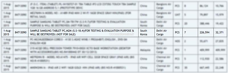 Tablette Samsung 18.4 tests