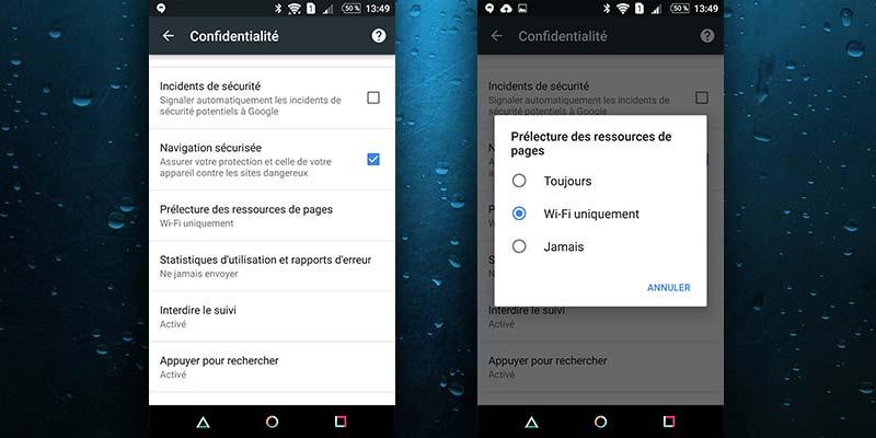 Accélérer Chrome sur Android