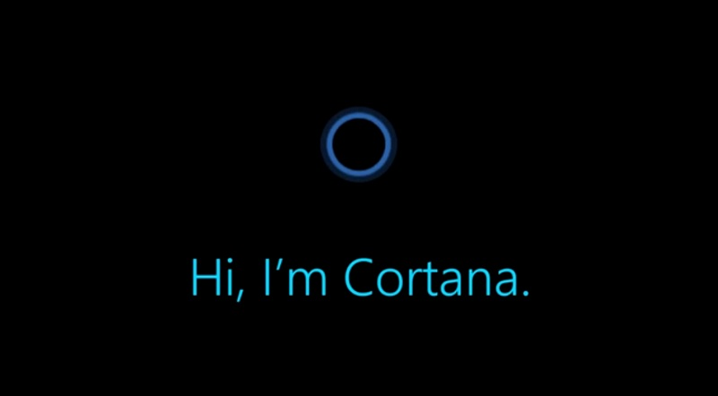 Controle vocal Cortana android