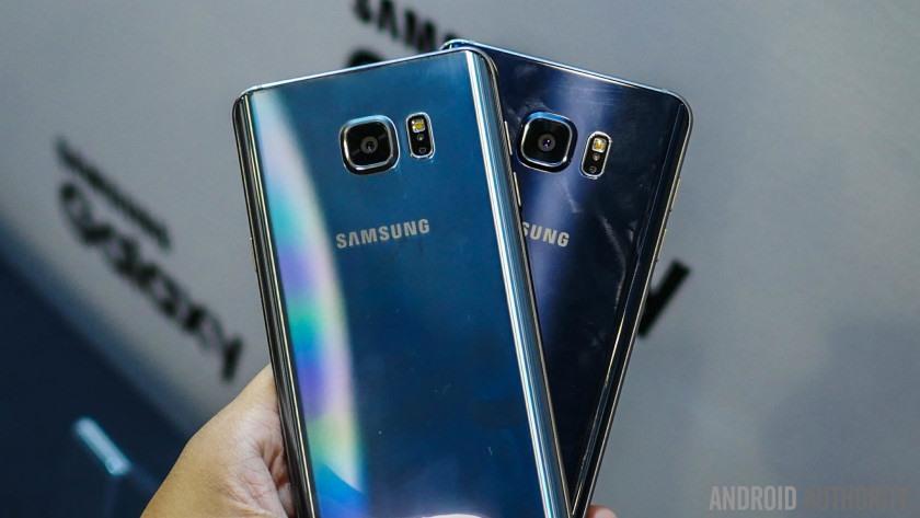 Galaxy Note 5 façade verre