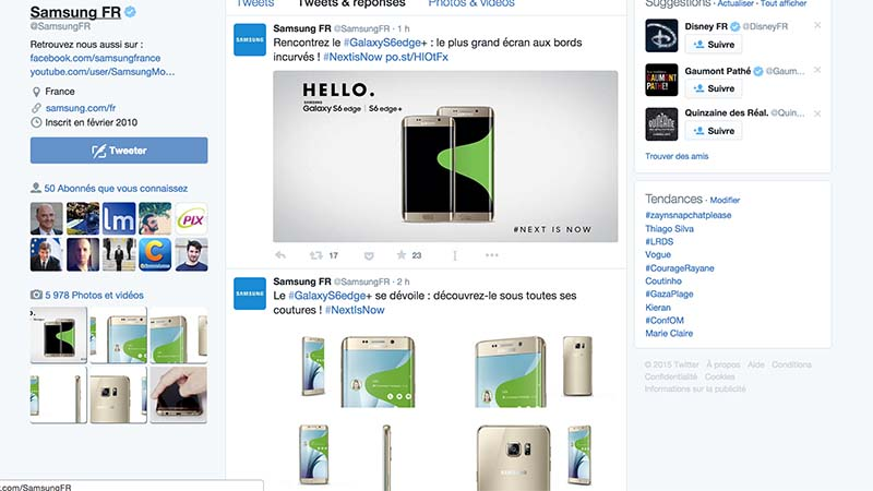 galaxy note 5 samsung twitter