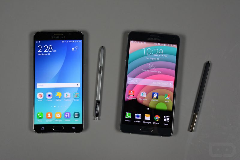 Galaxy Note 5 vs Note