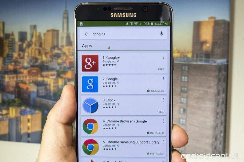 Google+ Galaxy Note 5