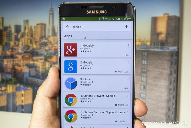 Google+ Galaxy Note 5