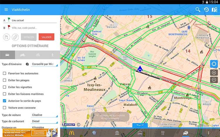 Via Michelin GPS sur Android