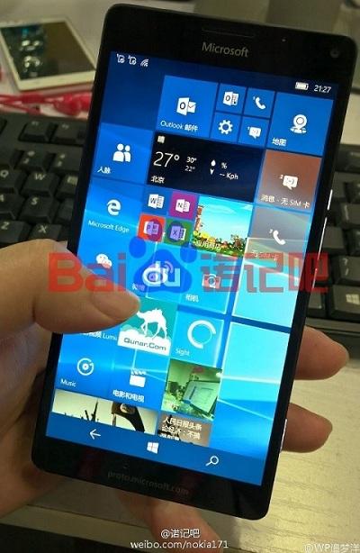 Lumia 950 fuite images ecran Quad-HD