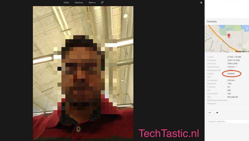 Nexus 5 camera frontale