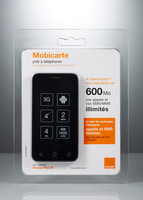 photo coffret Mobicarte Orange Rise 30