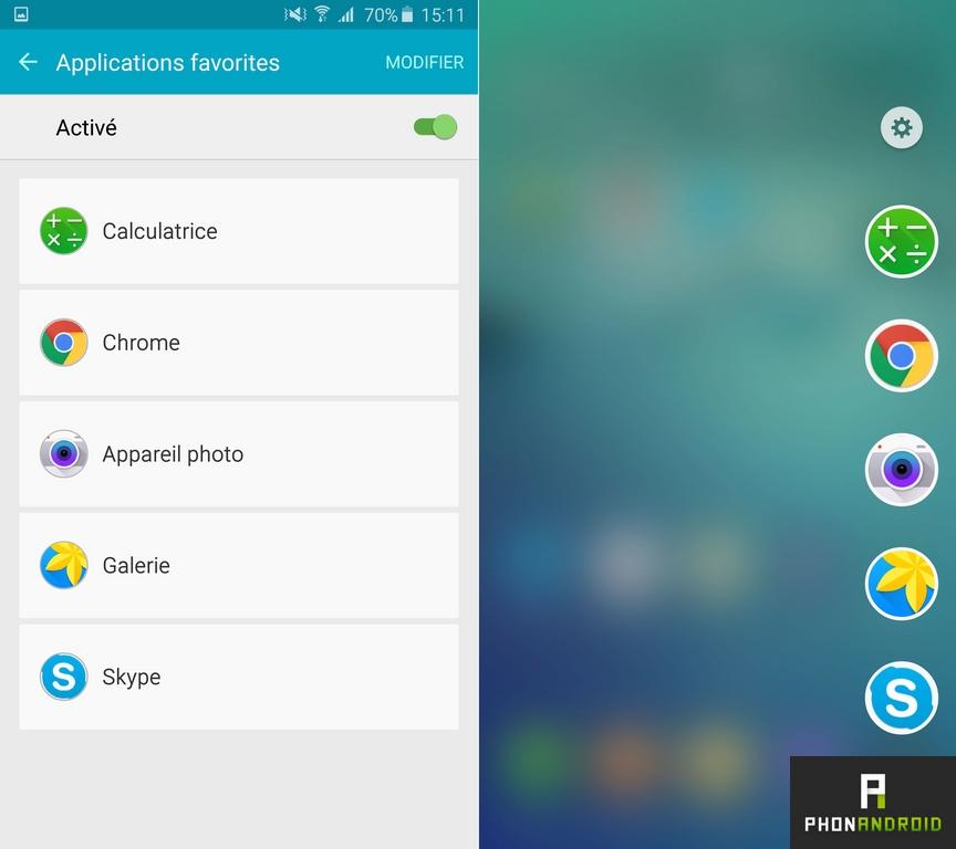 samsung galaxy s6 edge plus applications favorites