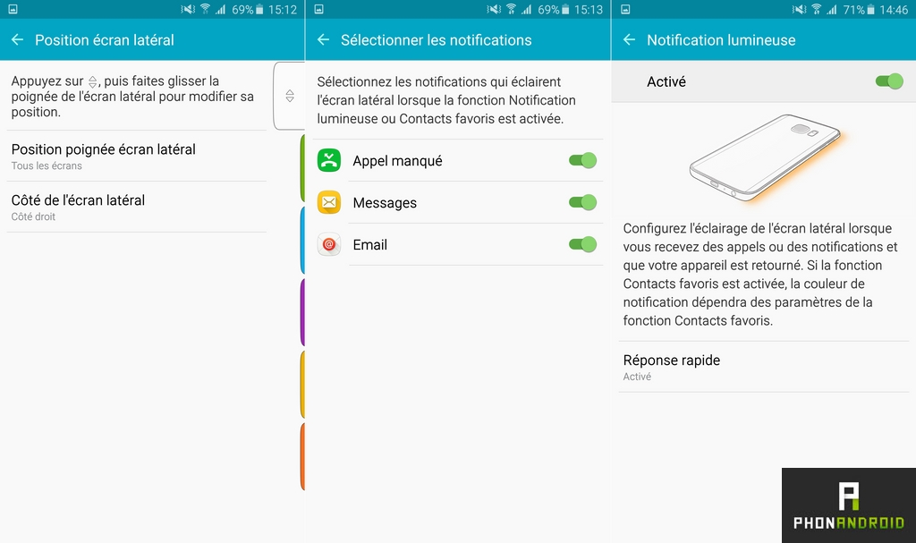 samsung galaxy s6 edge plus notification lumineuse