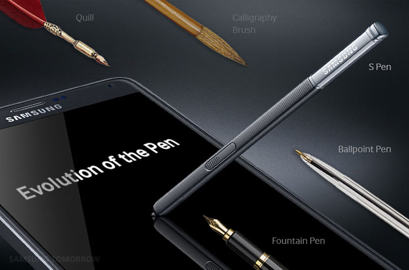 samsung s pen evolution ecriture