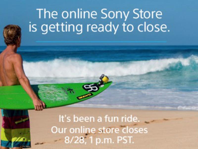 Sony fermeture boutique