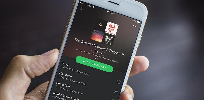 Spotify interface