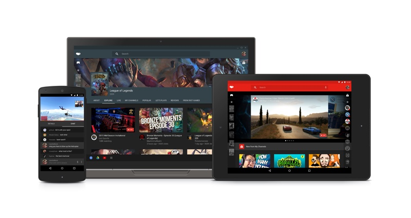 youtube gaming lancement