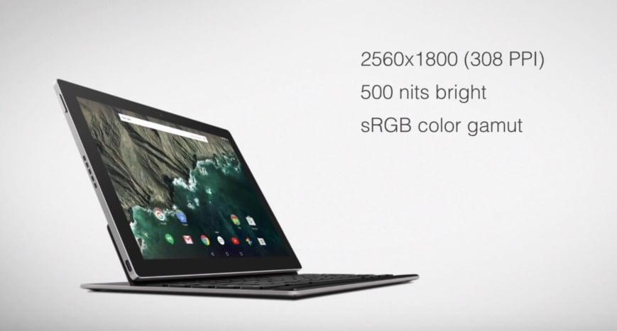 Google Pixel C ecran
