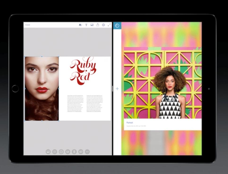 Le multi-tâche sur l'iPad Pro