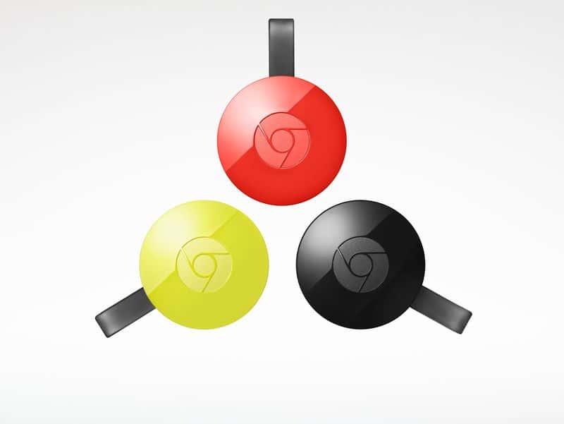 Chromecast trois couleurs