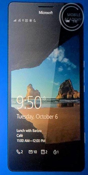 Lumia 950 face