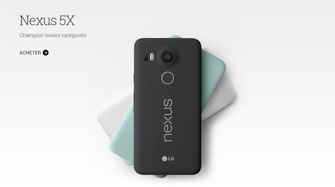 Nexus 5X store