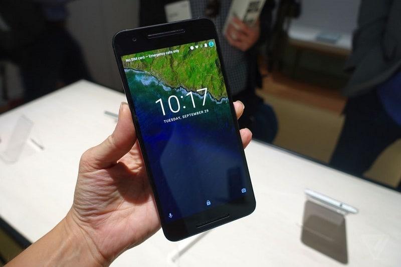 Nexus 6P prise main ecran