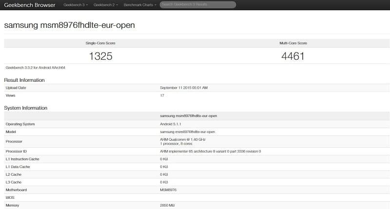 Samsung benchmark Galaxy A9 2
