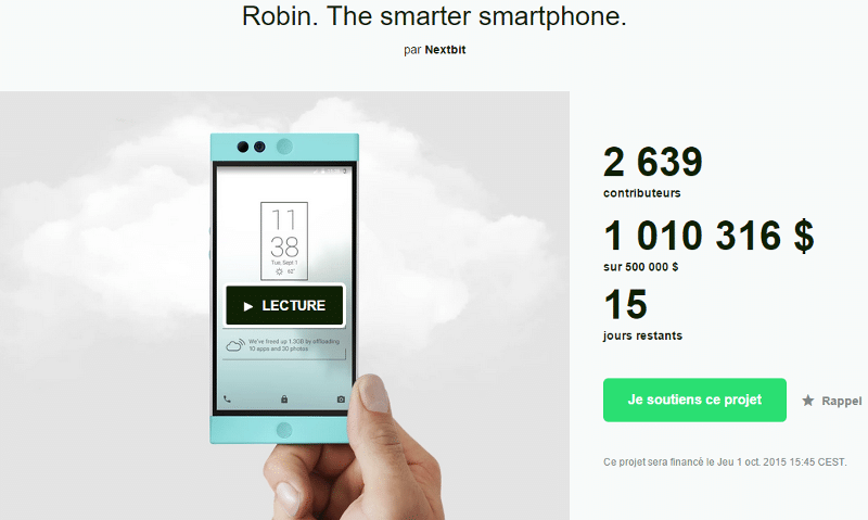 nextbit robin kickstarter 1 million