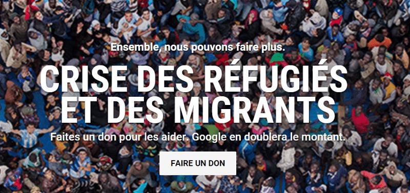 google double dons réfugiés