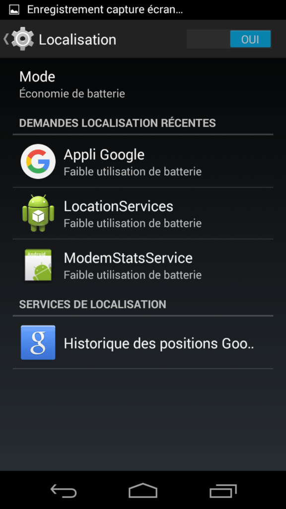 tuto desactiver localisation android