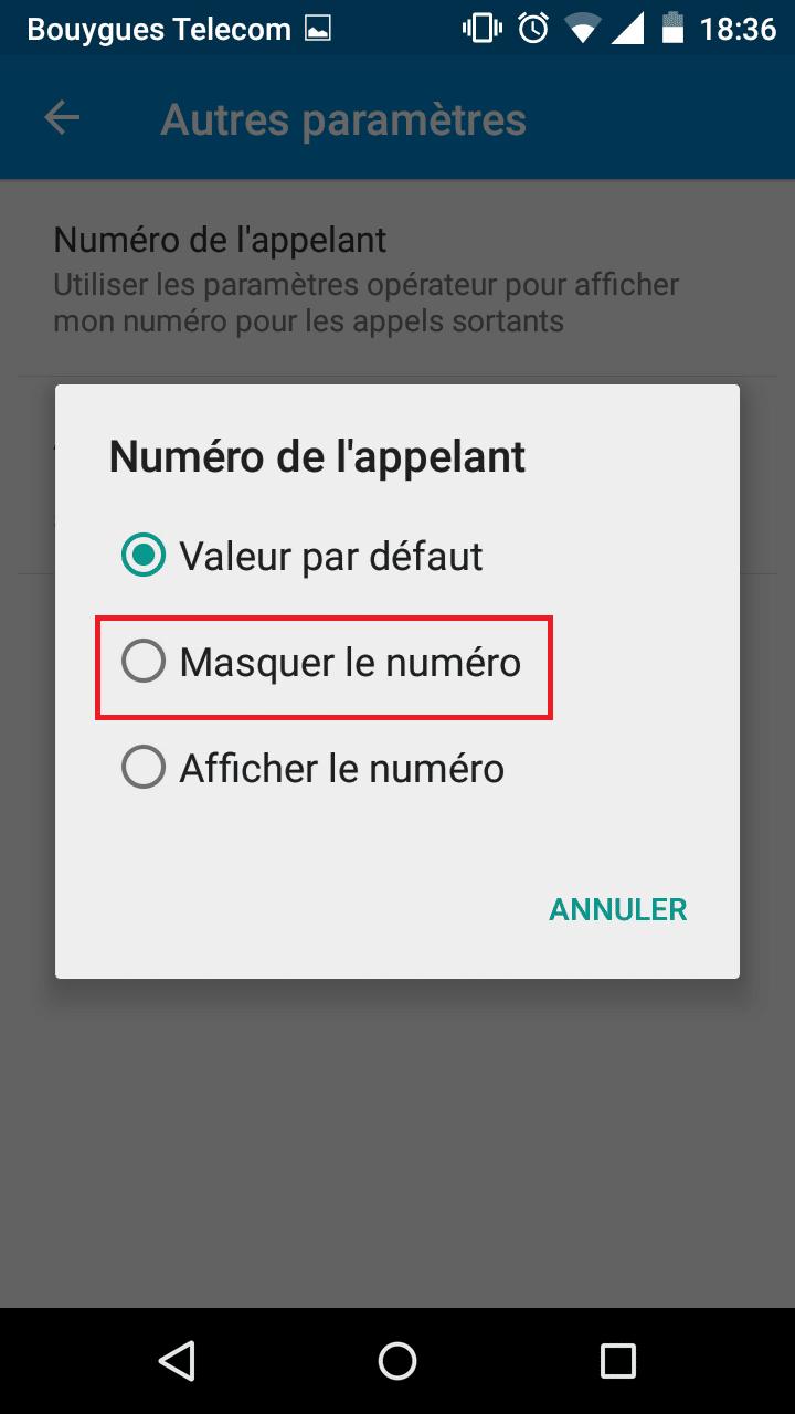 tuto appel masqué android 7