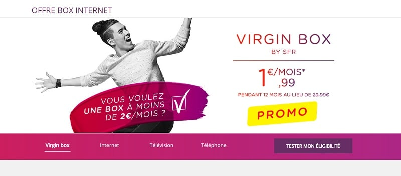 Virgin Mobile 1,99 € mois an