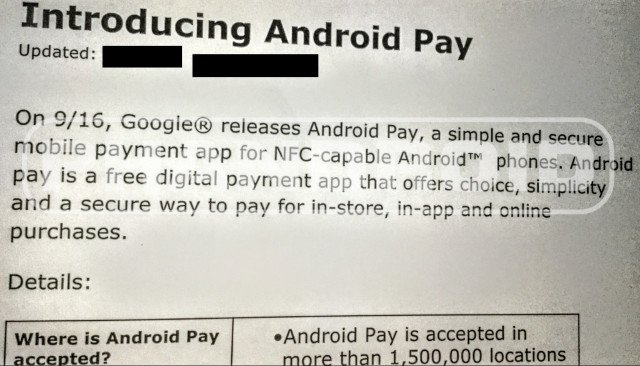 Android Pay lancement
