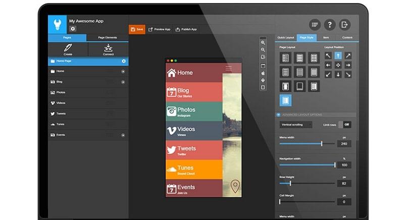 App builder  Creer app mobile Android sans coder