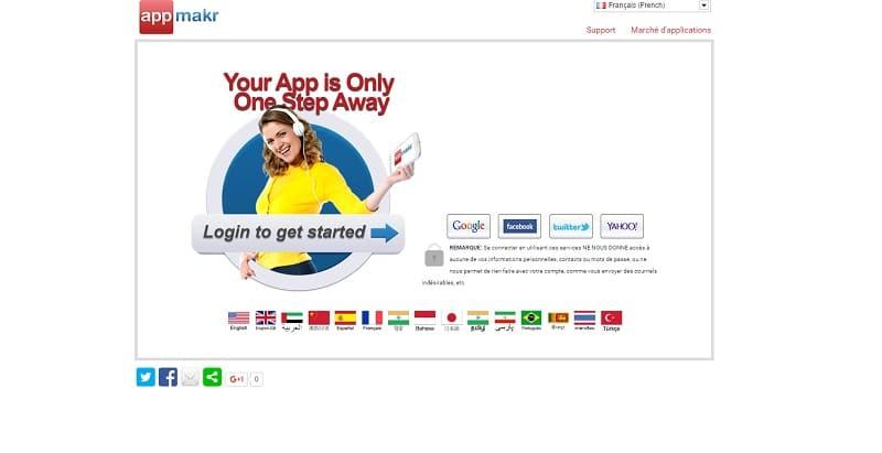 App Makr Creer app mobile Android sans coder