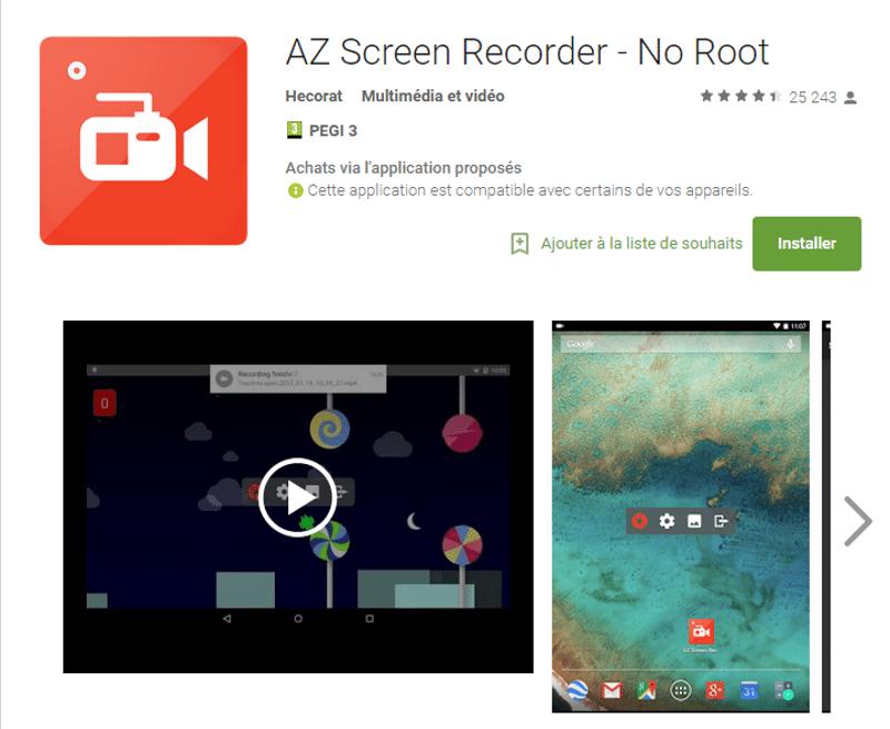 tuto enregistrer écran android
