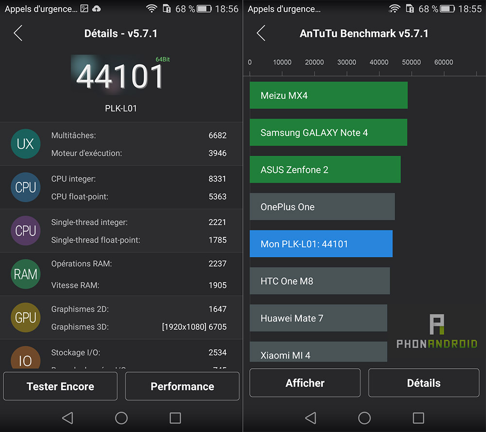 benchmark antutu honor 7