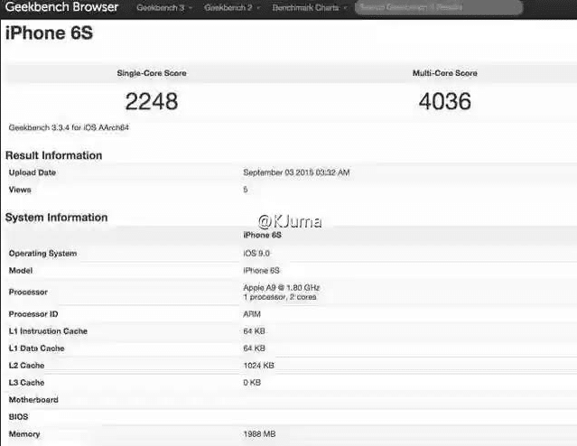 benchmark Apple A9