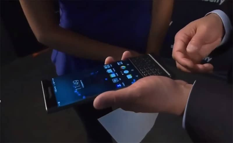 blackberry priv prise main pdg