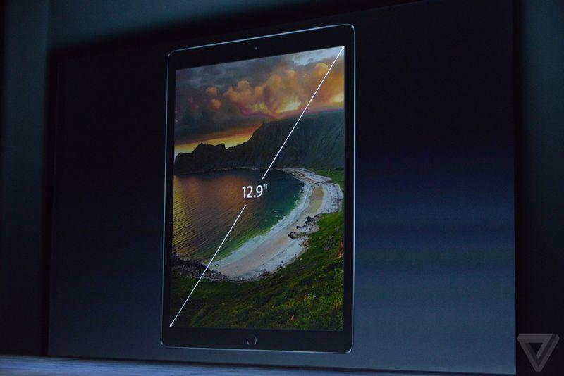 ipad pro officiel apple annonce sa premi re tablette 12 9 pouces. Black Bedroom Furniture Sets. Home Design Ideas