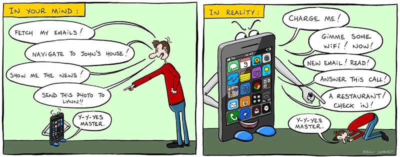 esclave smartphone