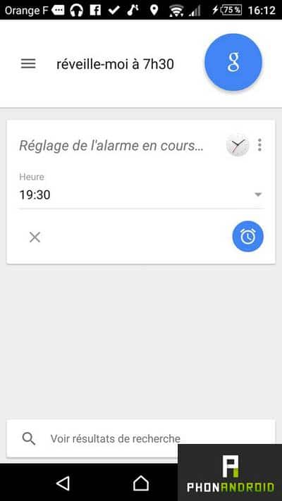 Google Now reveil